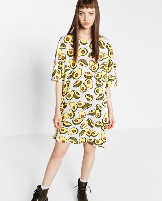 9682f5db Image 2 of PRINTED T-SHIRT DRESS from Zara | Frocks in 2019 ...