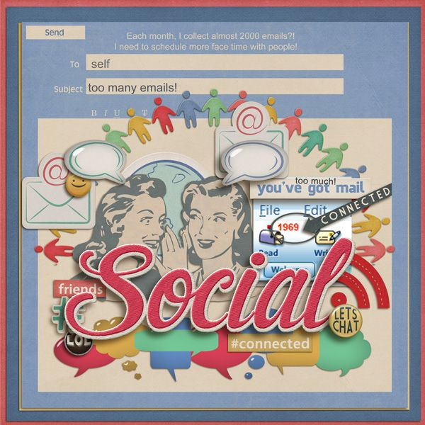 Digital Scrapbooking Kit - SOCIABLE | ForeverJoy Designs