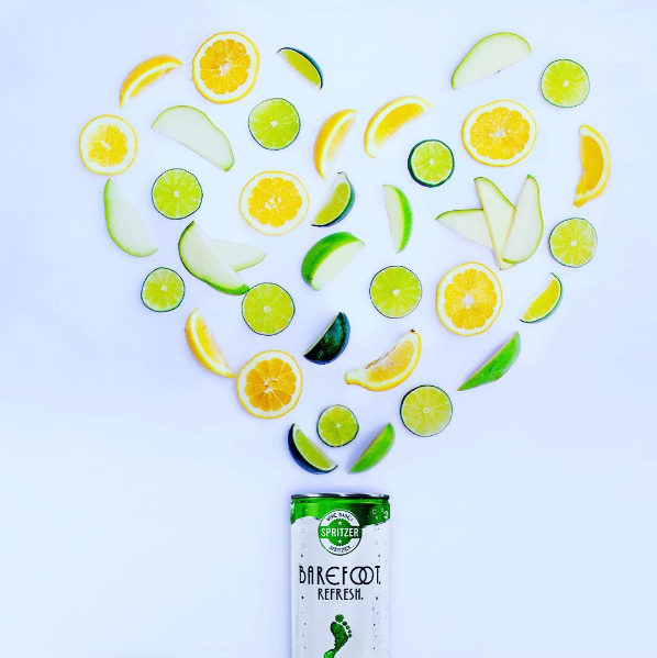 Barefoot Wines Crisp White Spritzer In A Can Features Aromas Of