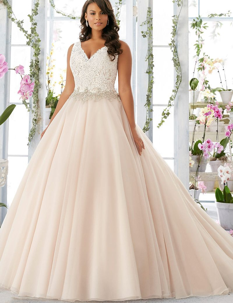 Wedding dress bridal real ball gown bride big size vneck lace