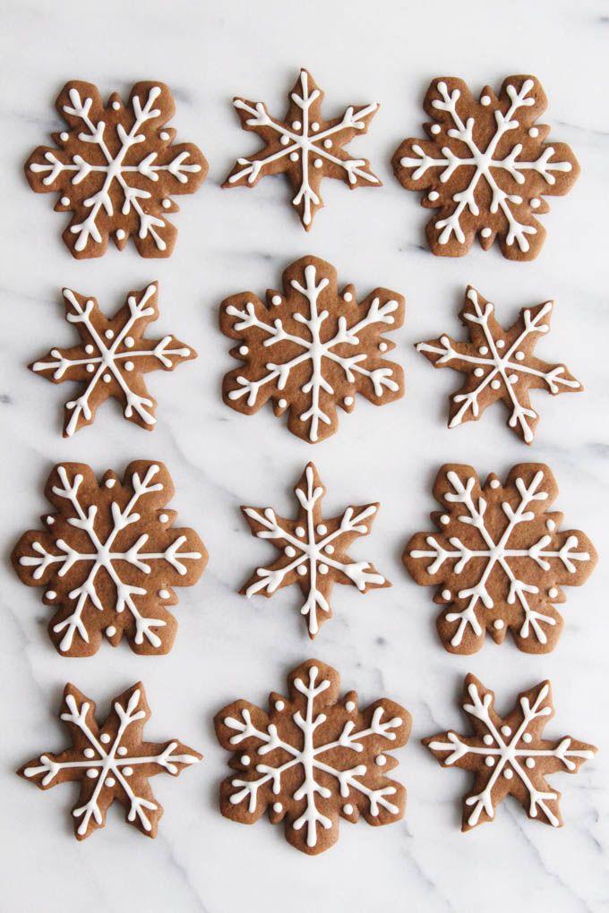 Gingerbread Snowflake Cookies | ALWAYS EAT DESSERT