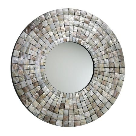 I pinned this Capiz Shell Mosaic Mirror from the Design Report event at Joss & Main! I love this!
