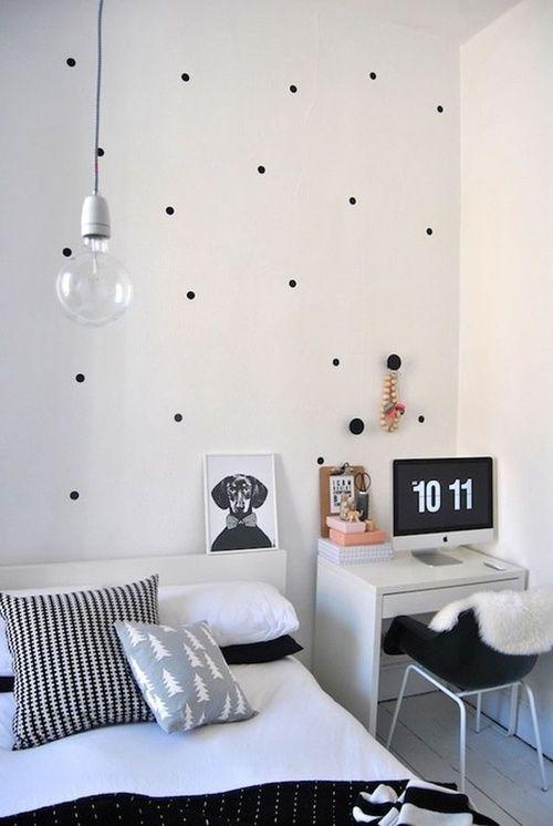 Polka dot walls and clean lines