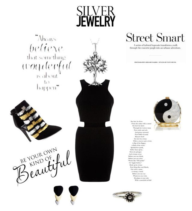"""Silver Jewelry"" by angelinapaneris ❤ liked on Polyvore"