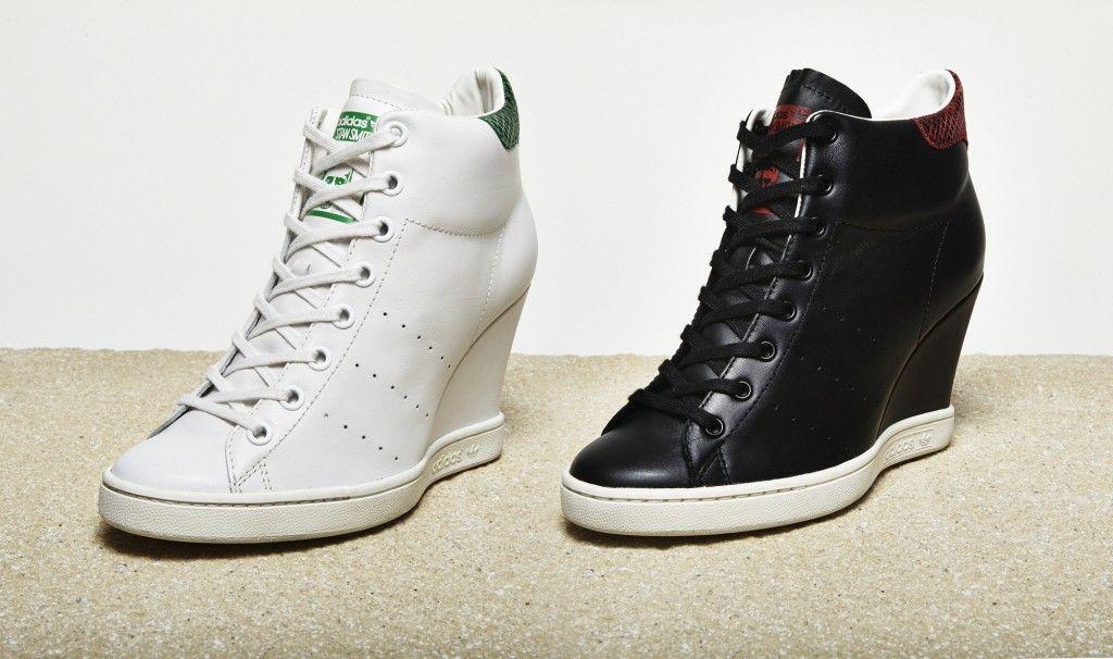 adidas stan smith wedge sneaker