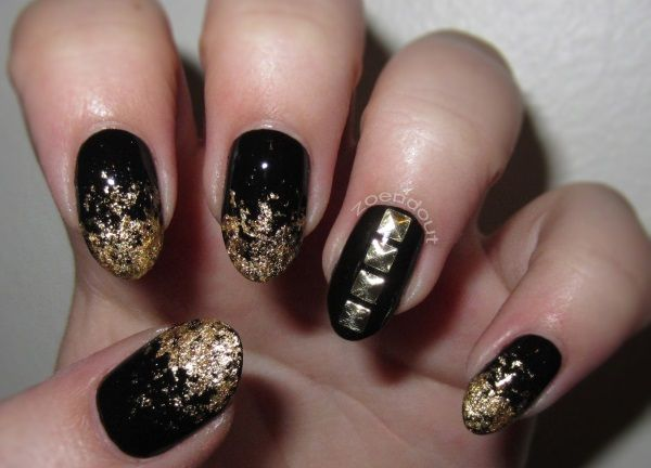Awesome 20 Rockin Studded Nail Art Designs