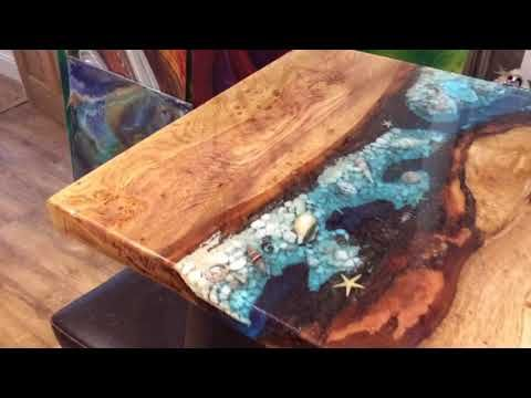 Oak Resin River Table Youtube Tops In 2019 Epoxy Resin Table Resin Table Oak Coffee Table