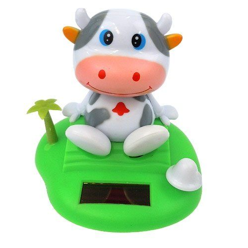 Solar Power Motion Toy Cow Solar Powered Toys Dancing Toys Office Toys