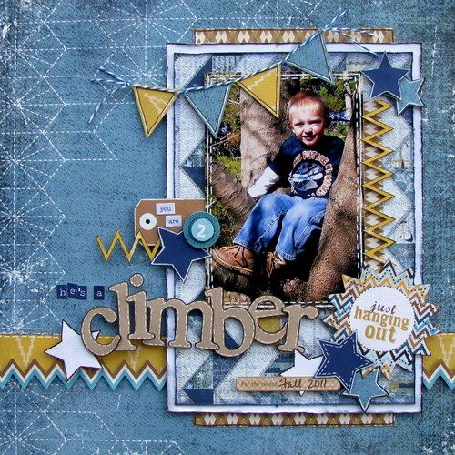 climber - Boys Rule Scrapbook Kits
