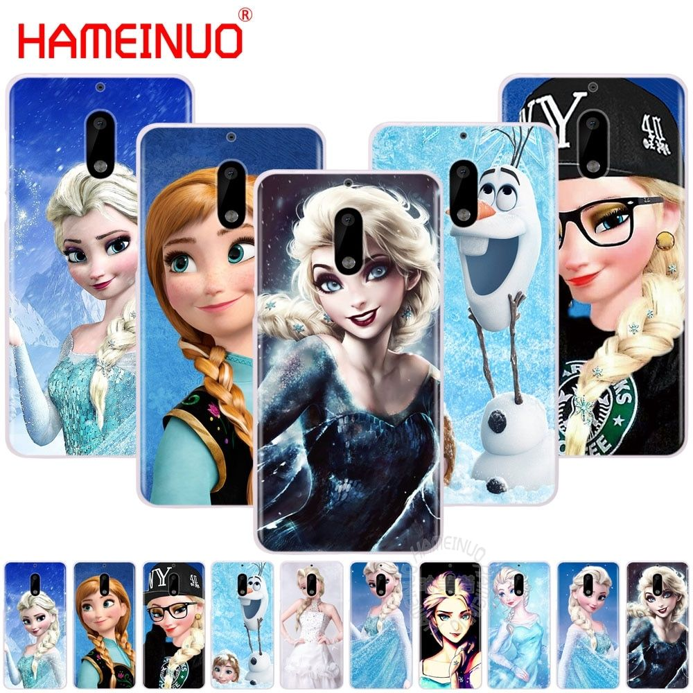 HAMEINUO Punk Elsa Tattoo Princess cover phone case for