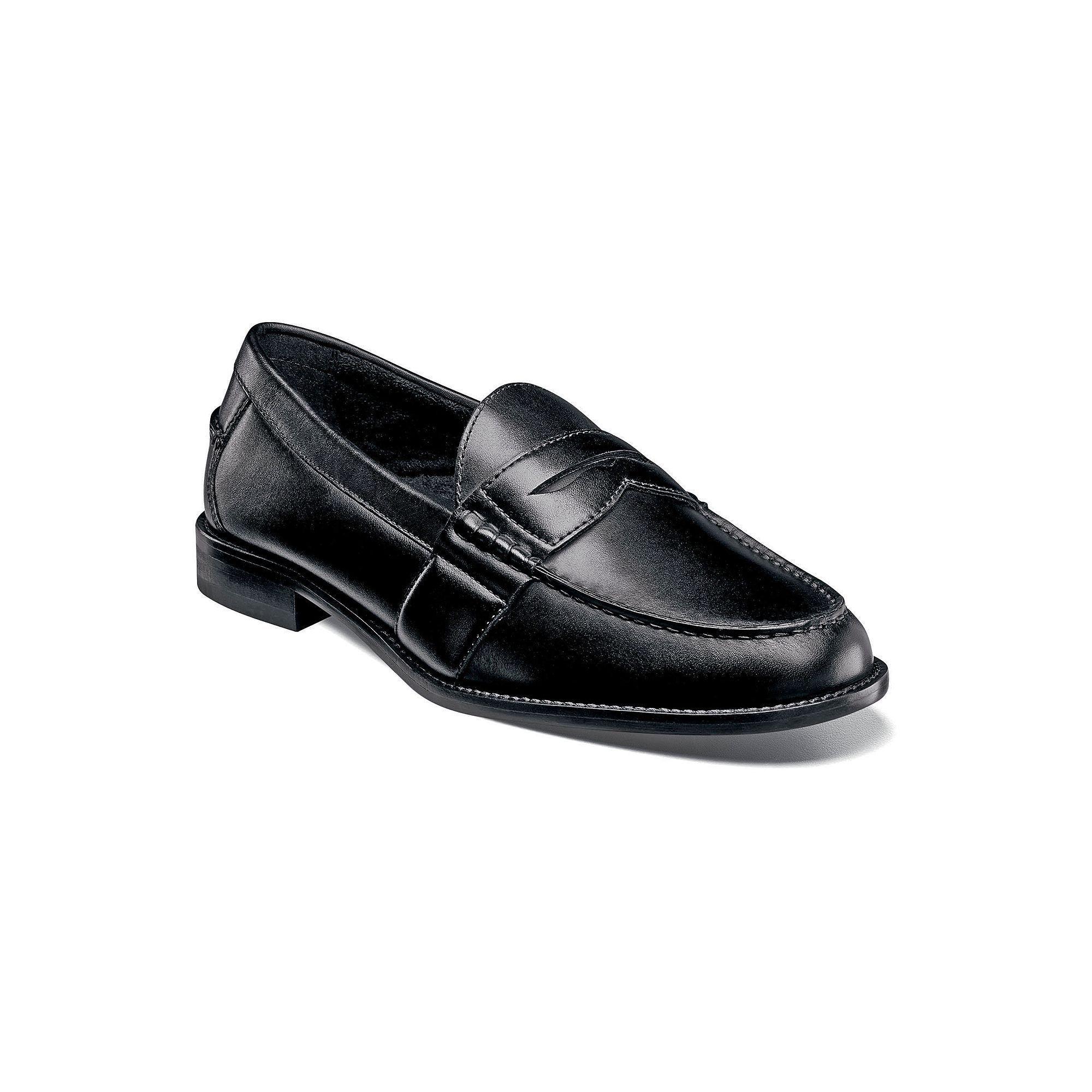 Black · Nunn Bush Noah Men's Leather Penny Loafers ...