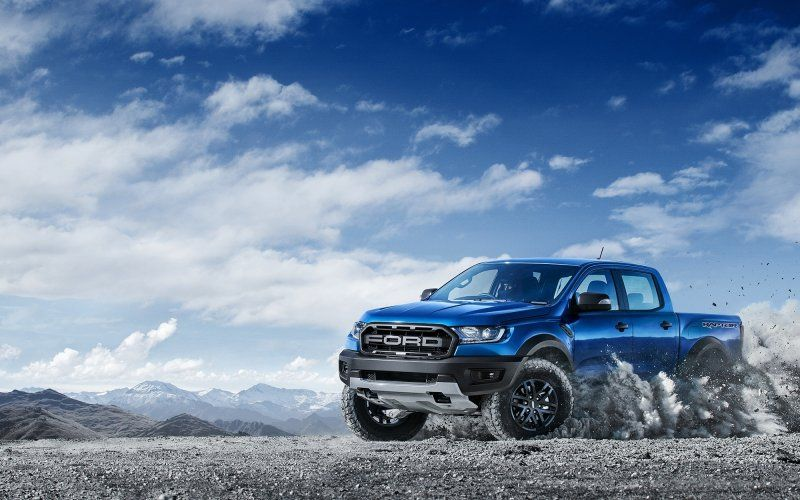 Wallpaper Blue Off Road Ford Raptor Ford Ranger Raptor Ford