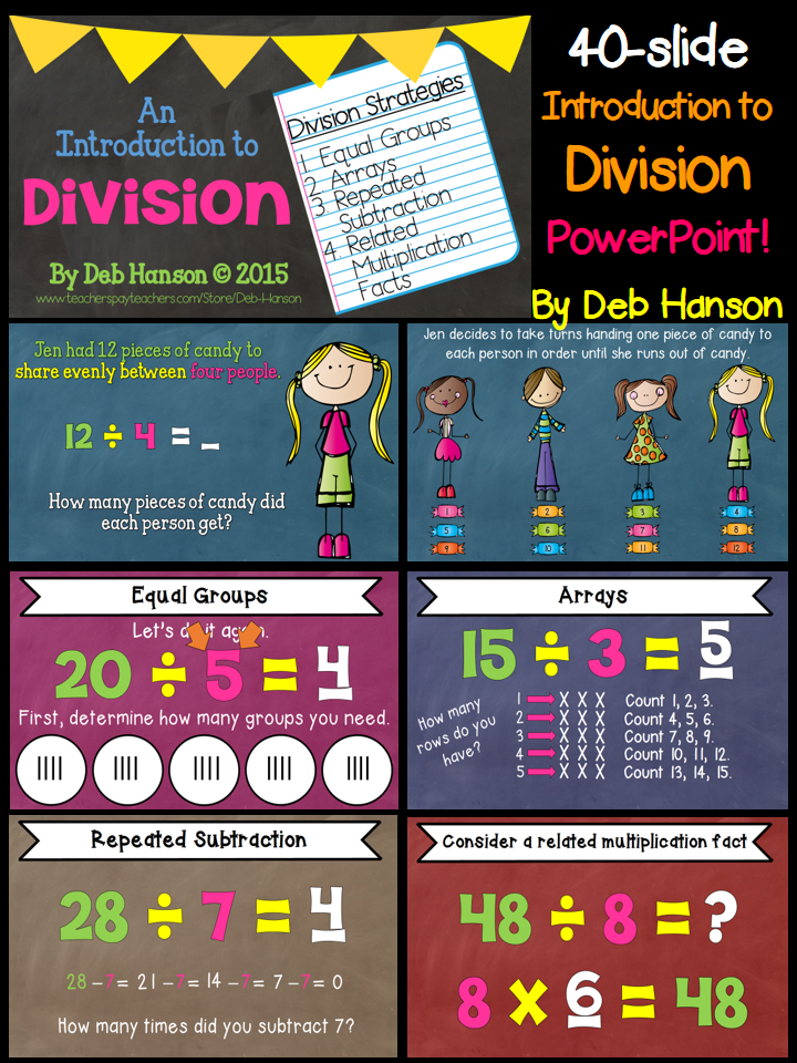 introduction to division strategies powerpoint grades 3 6 math