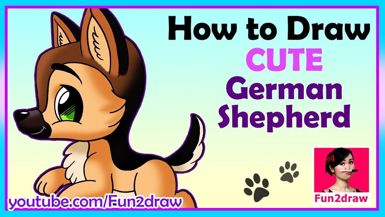 How to draw a dog Draw Easy, Draw Cute! Cute drawings