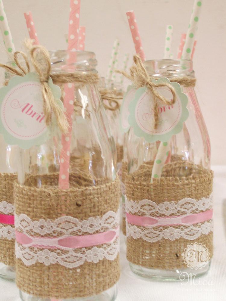 Shabby chic birthday party ideas festas pinterest - Diy frascos decorados ...