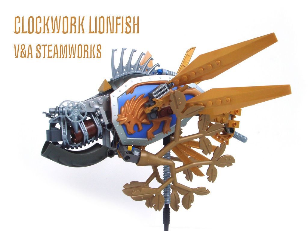 https://flic.kr/p/6HUq2f | Clockwork Lionfish | Inspired by these wacky Little Robot 'wings' I present a Clockwork Lionfish.  'nuff said!