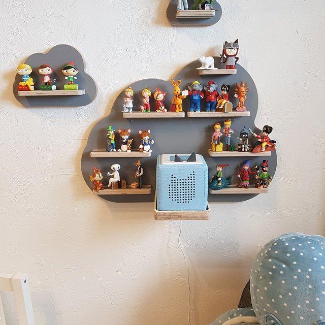 BOARTI Letter M grey - the shelf for the music box