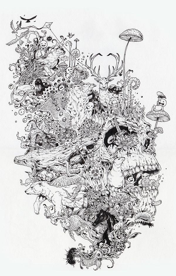 Growth by Kerby Rosanes, via Behance | Mon petit monde d\'inspiration ...