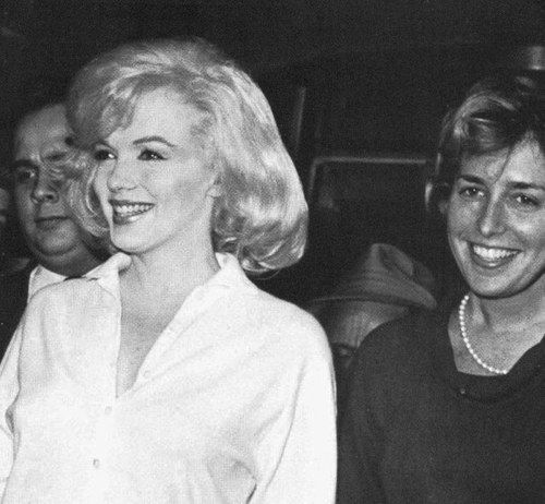 Marilyn With Her Publicist Pat Newcomb Leaving The Columbia Presbyterian Hospital In New York March 5th