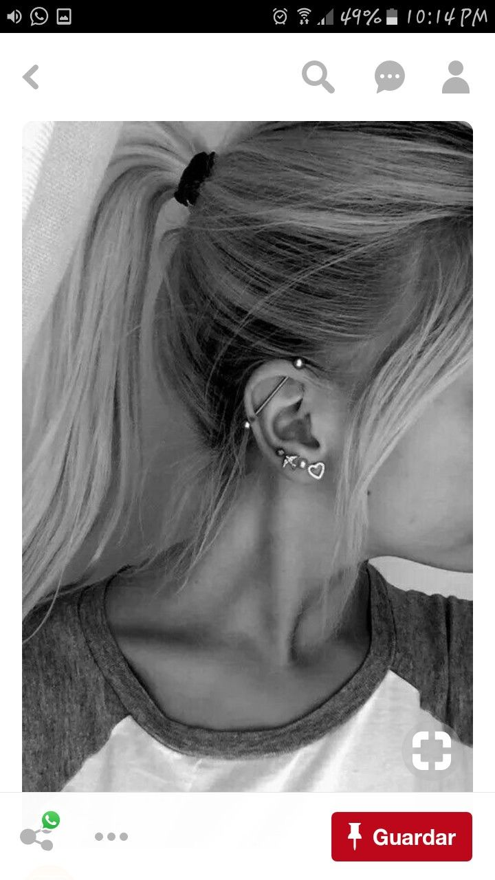 Body piercing areas  Pin by Анастасия Резниченко on штучки  Pinterest  Piercings Ear