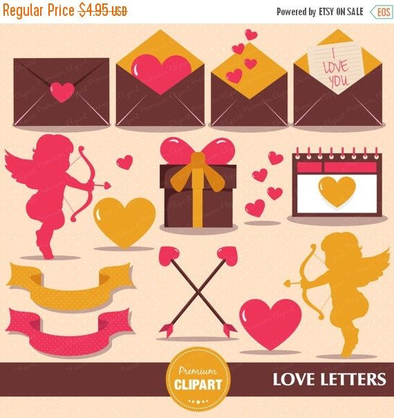 Love Letter Clipart Valentine Clipart Cupid Clipart