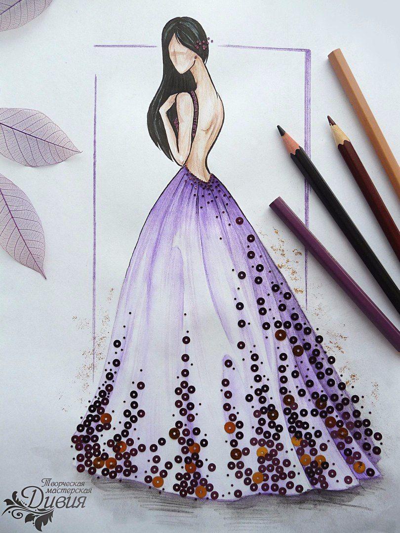 b2b945a05e4 эскиз платья. рисунок