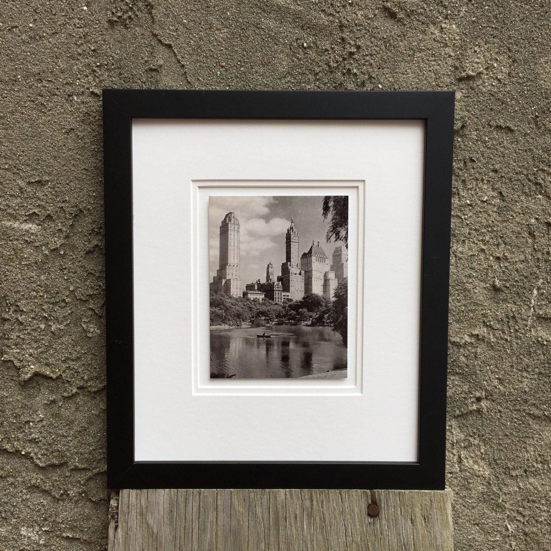 Framed Artwork Black & White Vintage New York City Skyline, Home ...