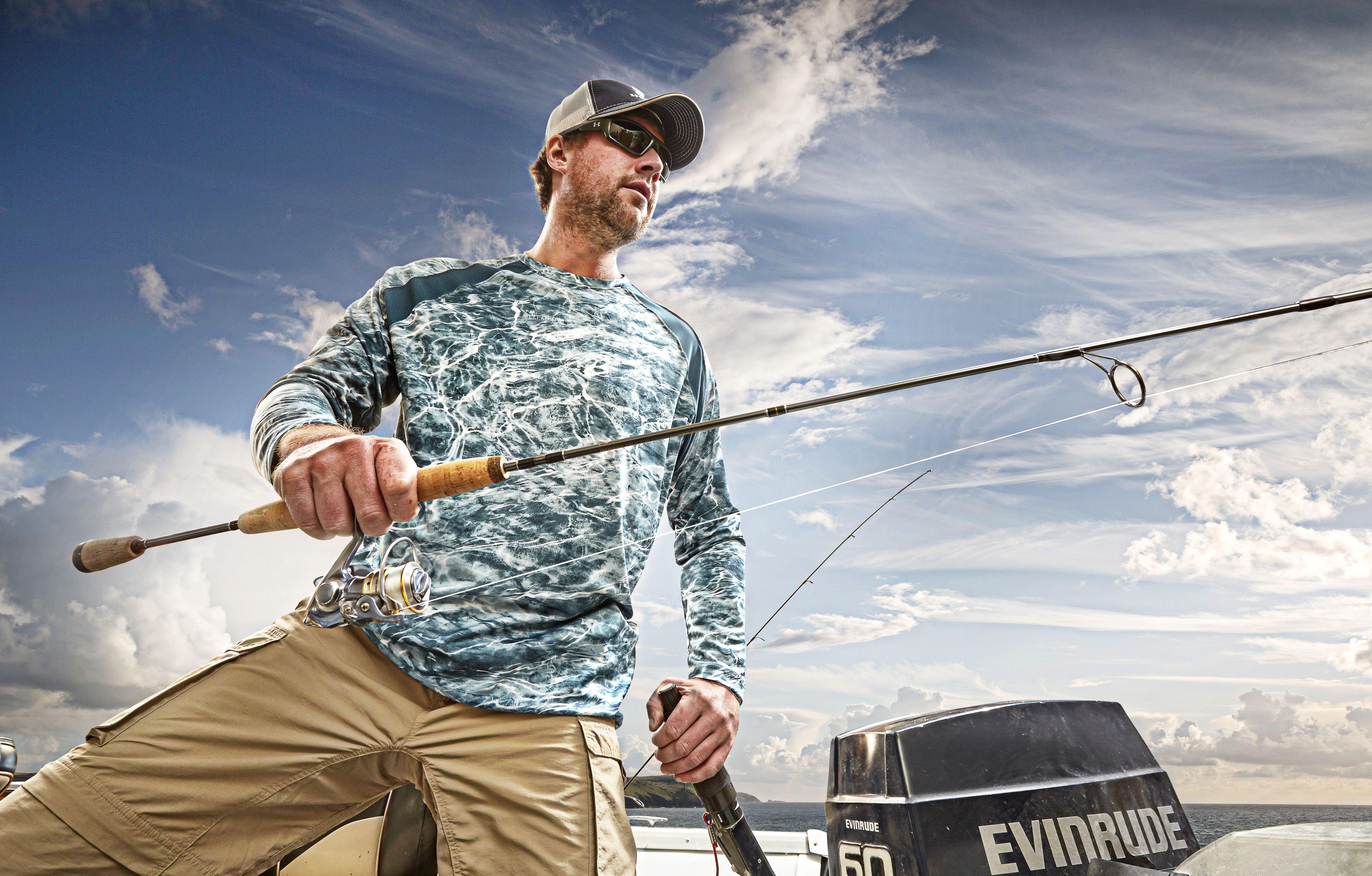 a9802239bd Performance Fishing Shirt with Mossy Oak Elements Agua is designed to defy  hot sun and biting bugs! UPF 50+