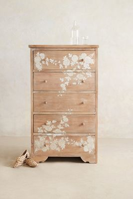 Anthropologie Pearl Inlay Narrow Dresser Anthrofave Anthropologie Narrow Dresser Furniture Makeover Home Furniture
