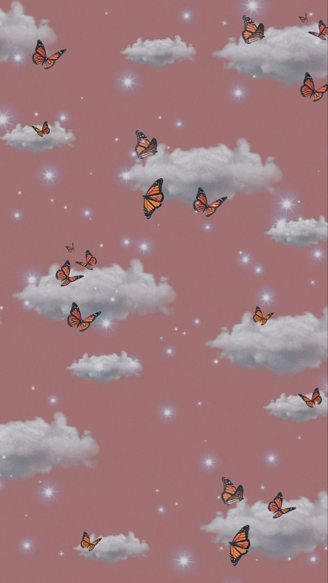 Pin by Destanie on tapety   Iphone wallpaper themes, Butterfly wallpaper iphone, Butterfly wallpaper