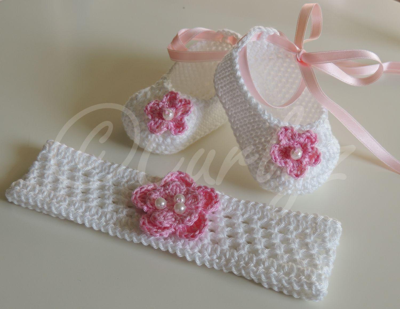 Zur Taufe Oder Geburt Stirnband Und Kleine Ballerinas