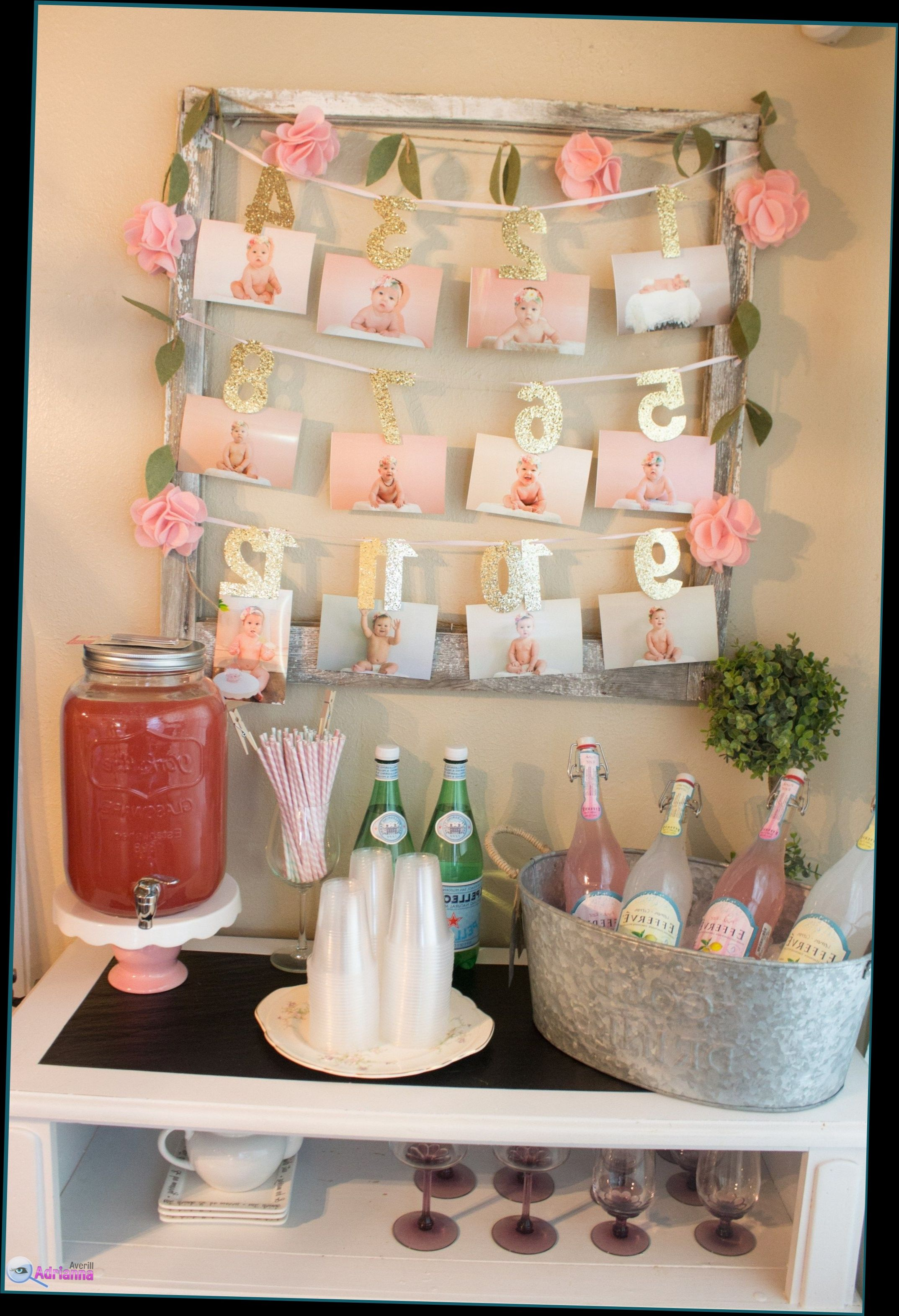 Birthday decoration at home for girl theme for 1st baby