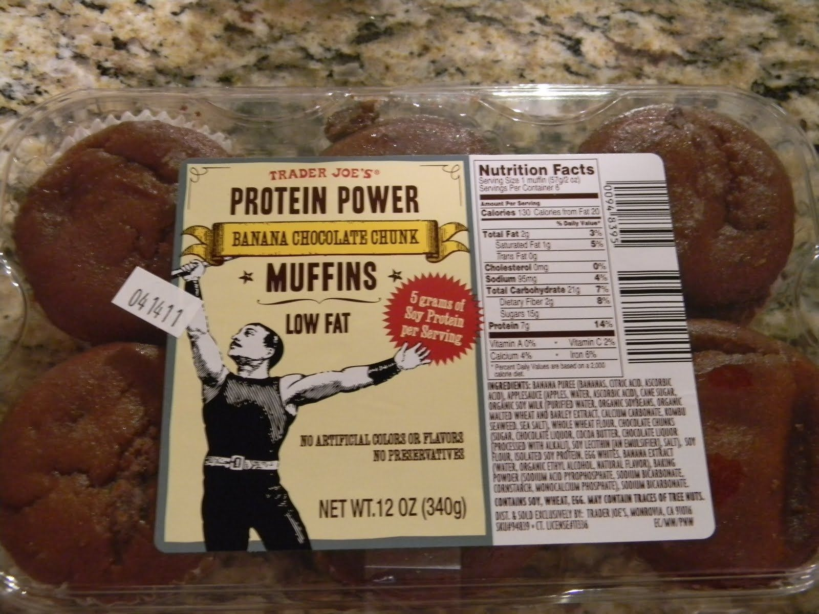 Trader Joe's Protein Power Banana Chocolate Chunk muffins.. only ...