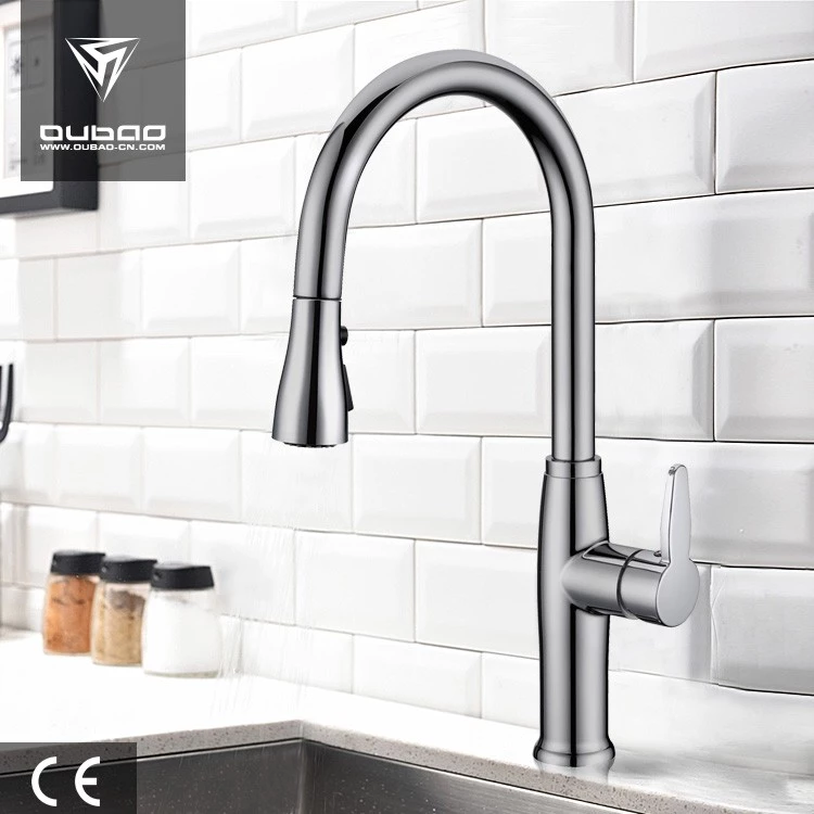 Long Neck Pull Down Kitchen Faucet