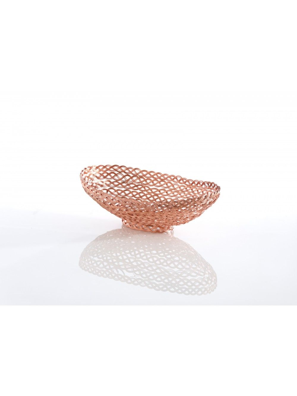 Braided Rose Gold Oval Platter - $44.00