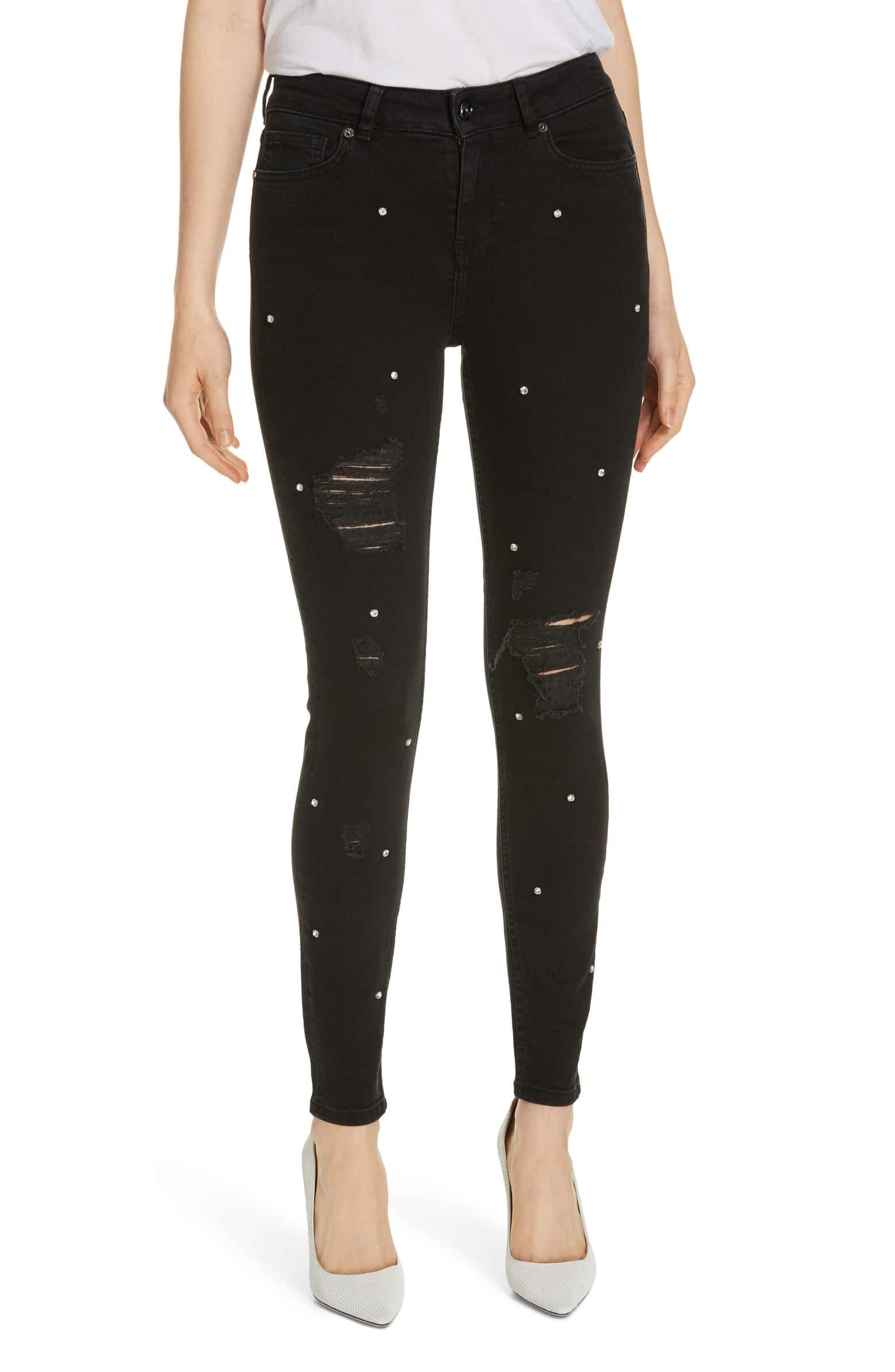 6b72091a1c Bretie Diamante Skinny Jeans