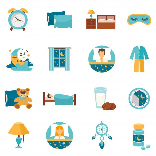 Download Flat Icons Sleep Time for free