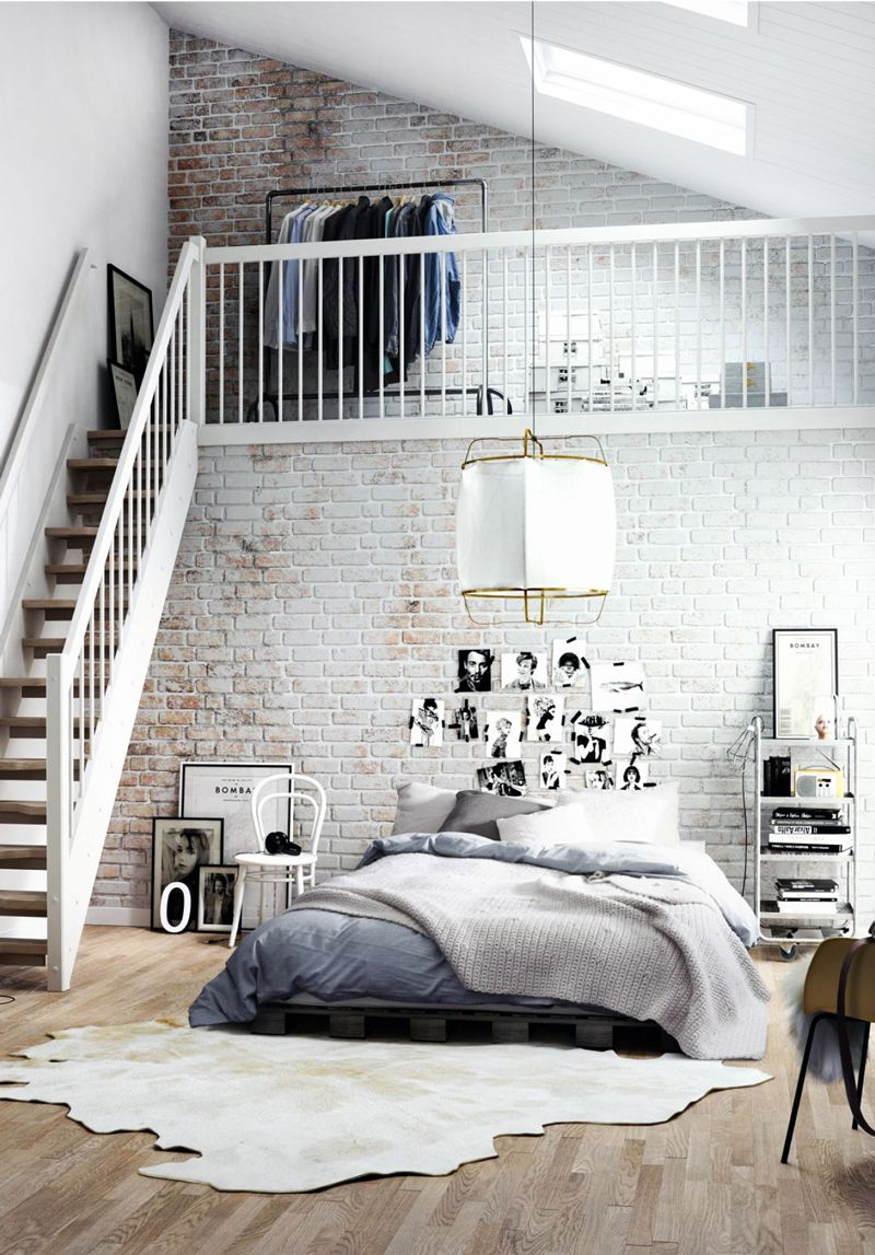 Interior Design 20 Dreamy Loft Apartments That Blew Up Pinterest Fashion Landscape Scandinavian Design Bedroom Loft Apartment Decorating Apartment Interior