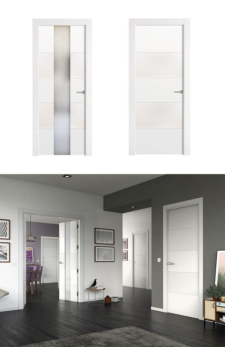 Puerta de interior blanca modelo vael de la serie imagin for Puertas macizas blancas