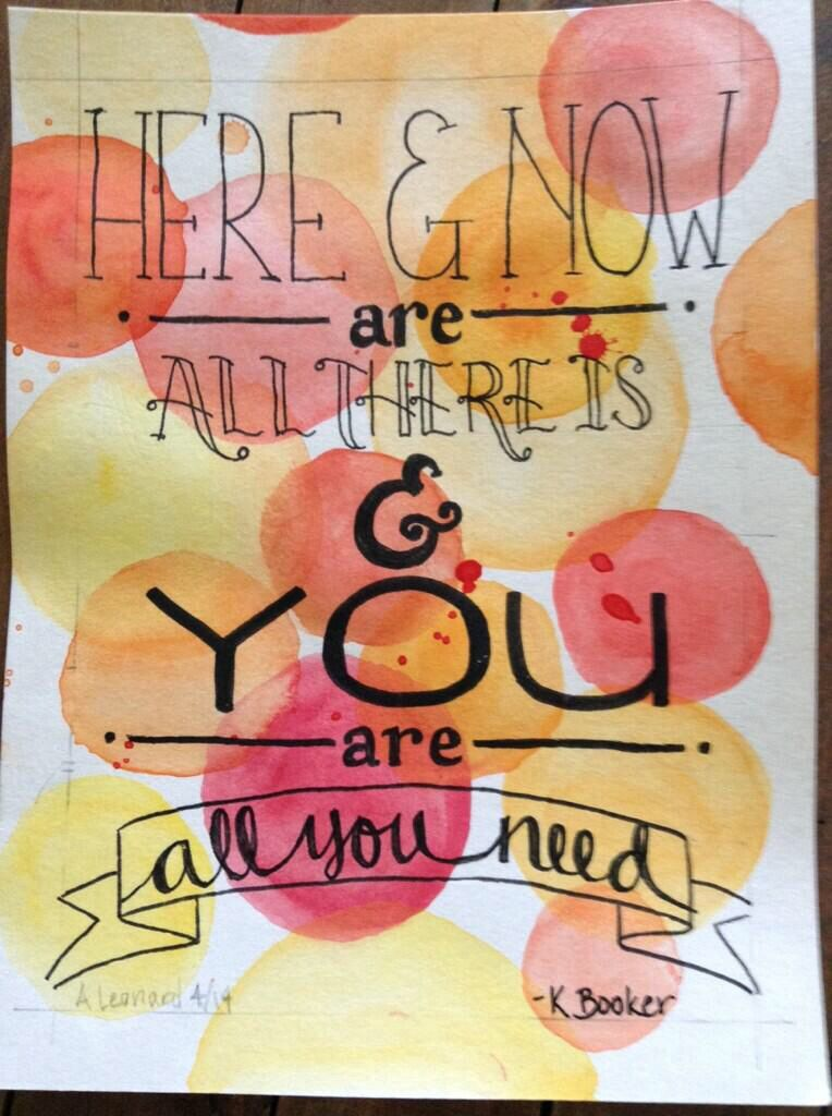 Here and now #olcbrenecourse
