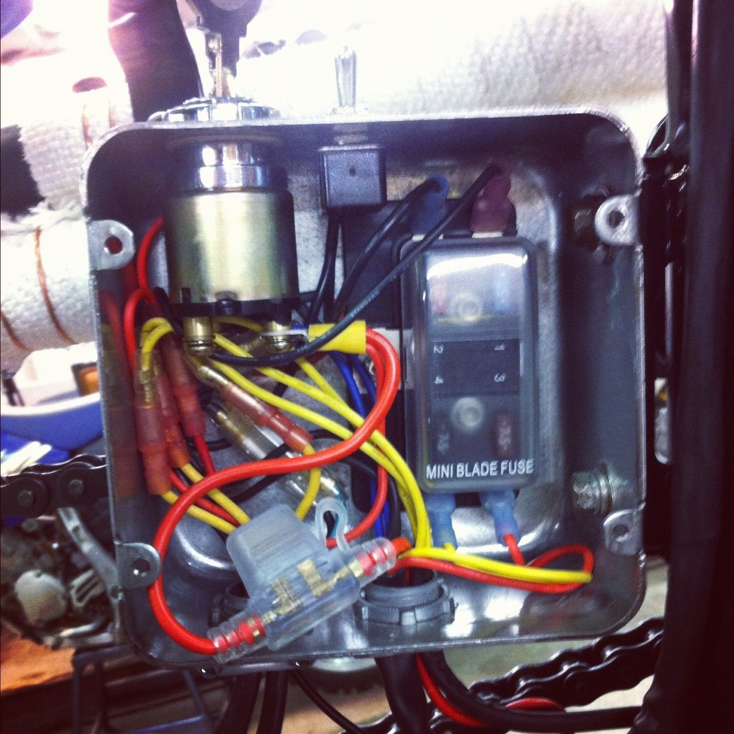yamaha xs650 bobber wiring diagram solar panel for rv 10 electronics box motorcycles pinterest