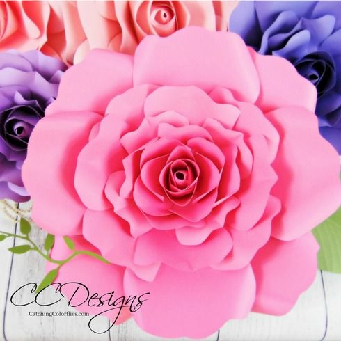 Eden style giant paper rose diy paper clever diy and template easy diy paper flower templates with full tutorial mightylinksfo