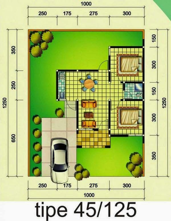 Desain Rumah Minimalis Type 45 Desain Rumah Denah Rumah Rumah Minimalis Rumah