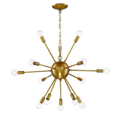 Eurofase Chandelier 29909-022-LW 14-Light Gold Hardwired