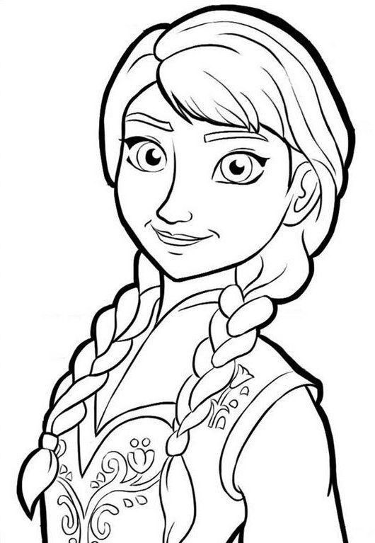 Materi Gambar Mewarnai Frozen Anna Dengan Gambar Kartun Gambar