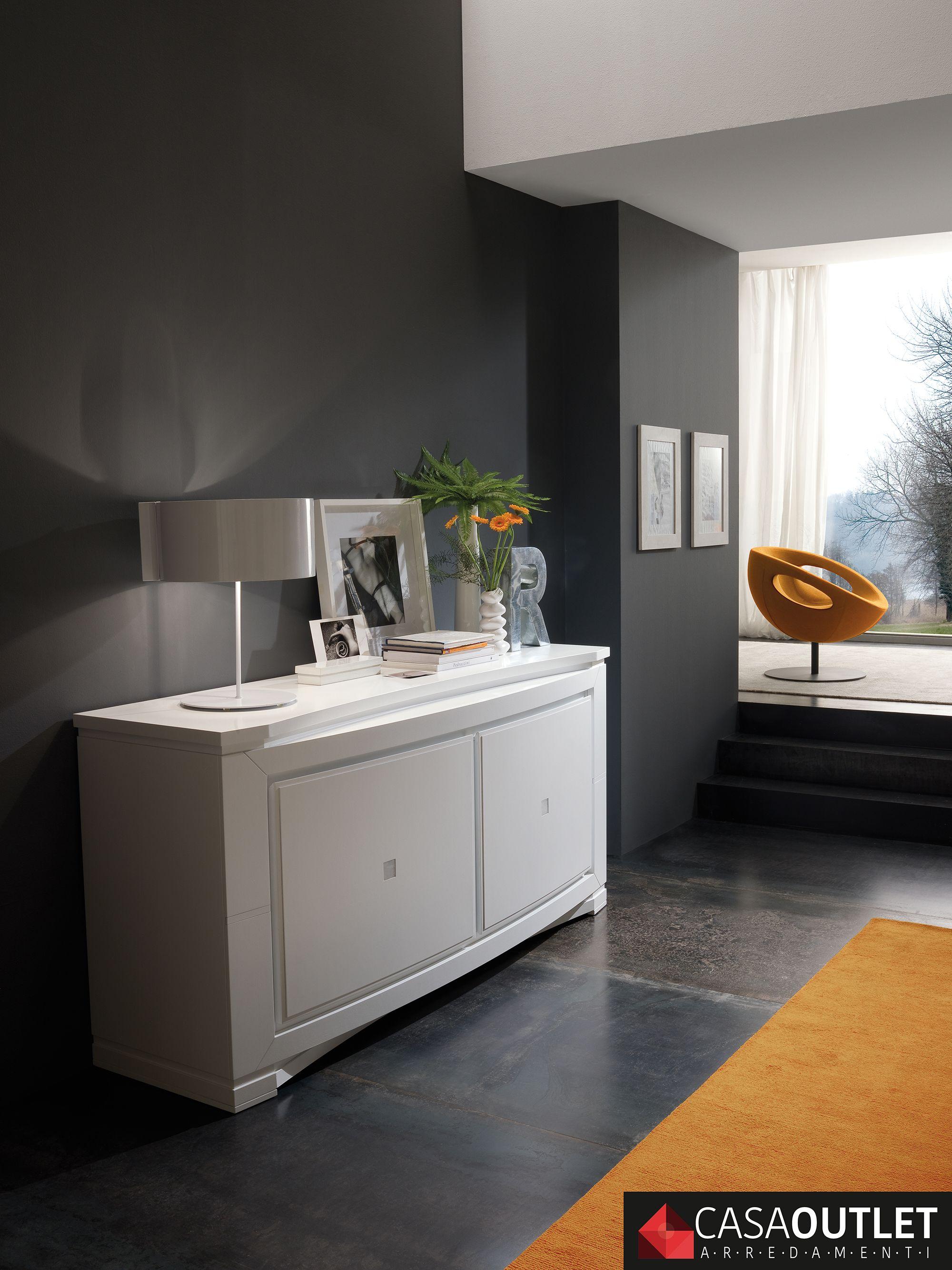 Credenza sagomata Modigliani • Bruno Piombini #interiordesign #white ...