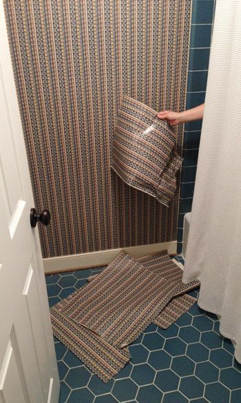Wallpaper Over Bathroom Tiles. Young House Love Bathroom Plans How To Strip Wallpaper What Worked Best