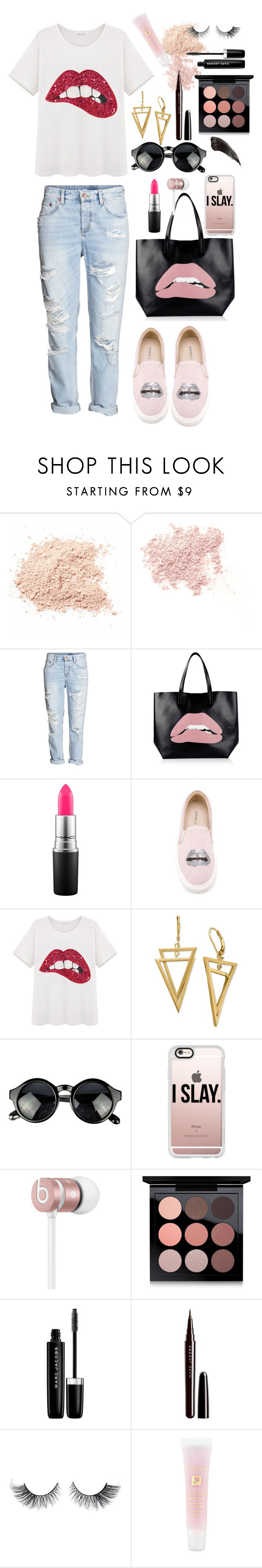 """Just chill!."" by kornyy18 ❤ liked on Polyvore featuring Bare Escentuals, H&M, RED Valentino, MAC Cosmetics, Markus Lupfer, Casetify, Beats by Dr. Dre, Marc Jacobs and Lancôme"