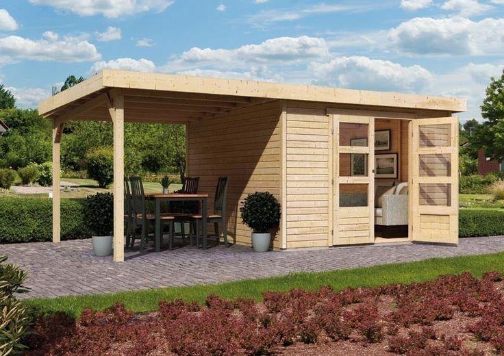Woodfeeling Gartenhaus Askola 6 Pultdach 19 mm System inkl