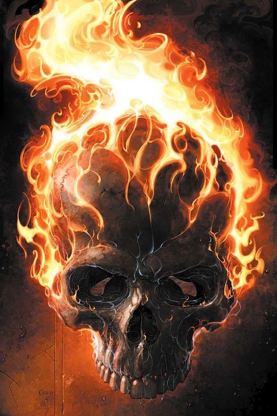 Burning Skull II T-Shirt Femmes en feu crâne dead Crânes Tatouage